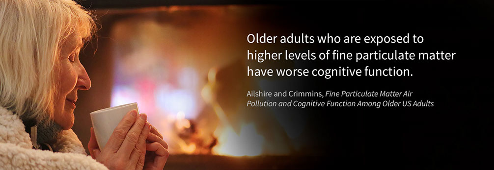 Photo: Older adults who are exposed to higher levels of fine particulate matter have worse cognitive function.