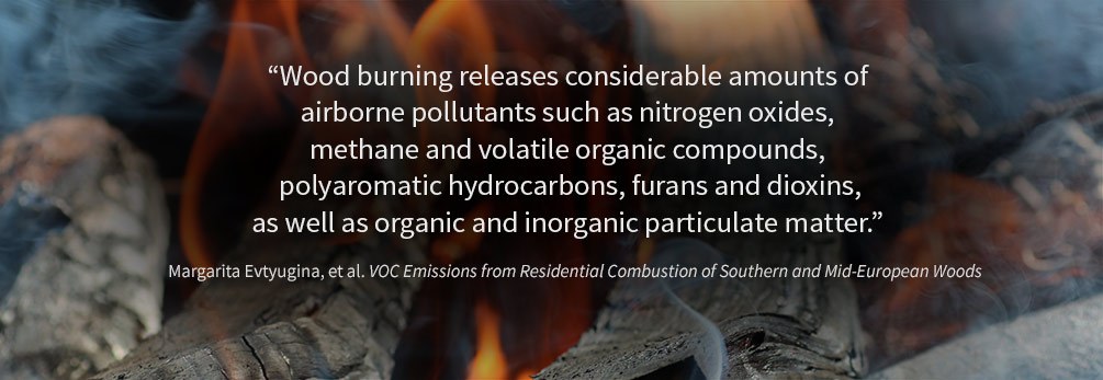 Photo: Wood burning releases considerable amounts of airborne pollutants.